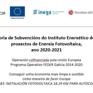 Subvención INEGA energía Fotovoltaica